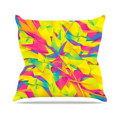Bubble Gum Explosion by Danny Ivan Throw Pillow Size: 26 H x 26 W x 5 D