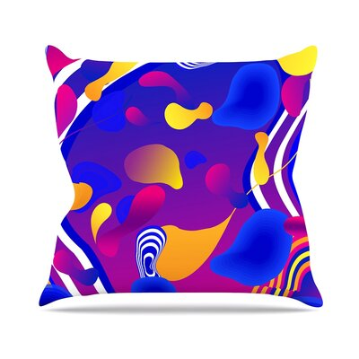 Bubbles by Danny Ivan Throw Pillow Size: 18 H x 18 W x 3 D
