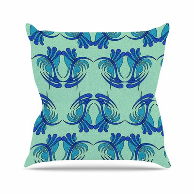 Curvaceous by Dan Sekanwagi Throw Pillow Size: 26 H x 26 W x 5 D