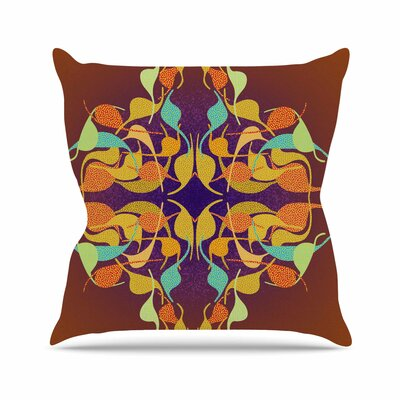 Feast by Dan Sekanwagi Throw Pillow Size: 16 H x 16 W x 3 D