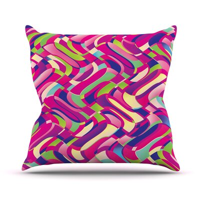 Colorful Movement by Dawid Roc Throw Pillow Size: 16 H x 16 W x 3 D