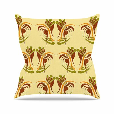 Curvaceous by Dan Sekanwagi Throw Pillow Size: 18 H x 18 W x 3 D