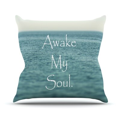 Awake My Soul Outdoor Throw Pillow