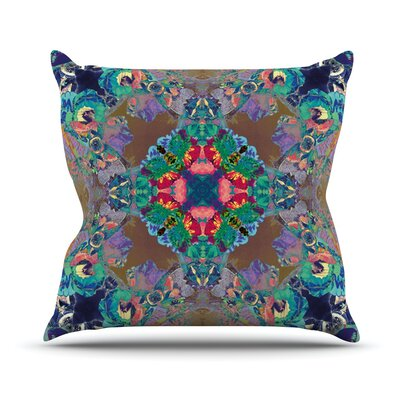 Flowery Outdoor Throw Pillow