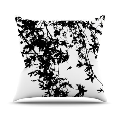 Black and White Outdoor Throw Pillow