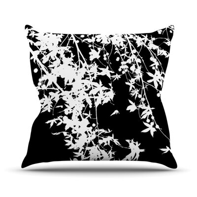 White on Black Outdoor Throw Pillow