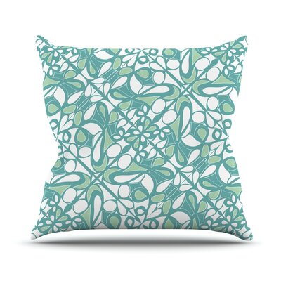 Swirling Tiles Outdoor Throw Pillow