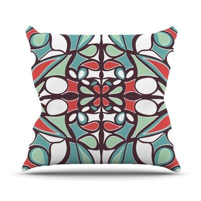 Round Tiles Outdoor Throw Pillow