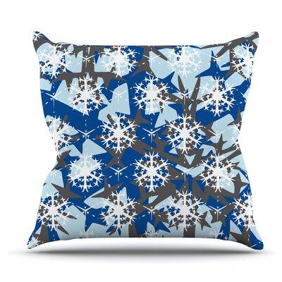 Ice Topography by Miranda Mol Outdoor Throw Pillow