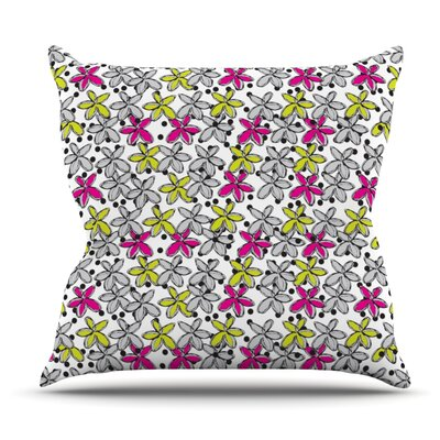 Floral Spread by Nandita Singh Outdoor Throw Pillow