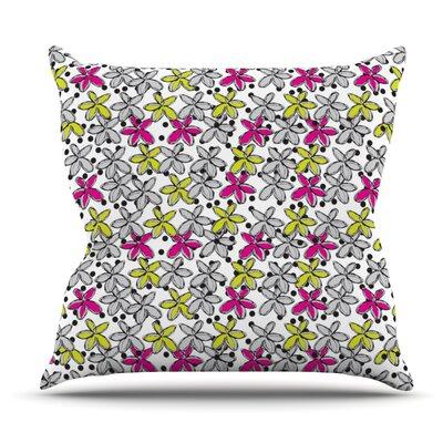 Floral Spread by Nandita Singh Outdoor Throw Pillow