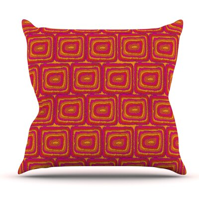 Bright Squares by Nandita Singh Outdoor Throw Pillow