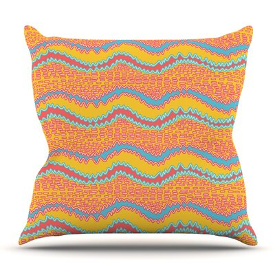 Waves by Nandita Singh Outdoor Throw Pillow