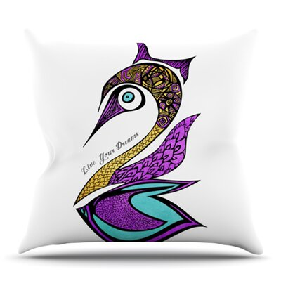 Dreams Swan by Pom Graphic Design Outdoor Throw Pillow