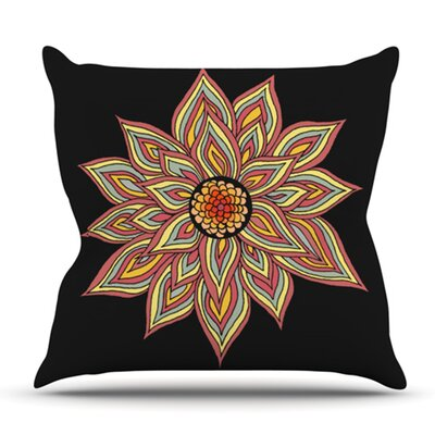 Incandescent Flower by Pom Graphic Design Outdoor Throw Pillow