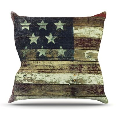 Oh Beautiful by Robin Dickinson Outdoor Throw Pillow