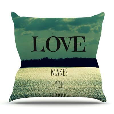 Love Makes You Sparkle by Robin Dickinson Outdoor Throw Pillow
