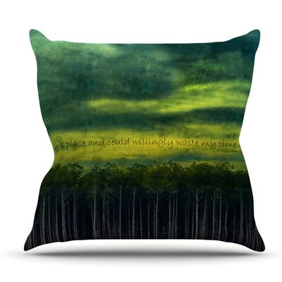 I Like This Place by Robin Dickinson Outdoor Throw Pillow
