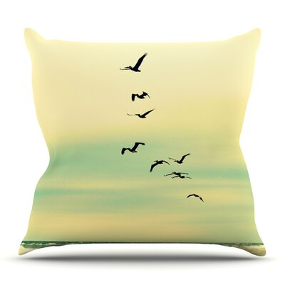 Across The Endless Sea by Robin Dickinson Outdoor Throw Pillow