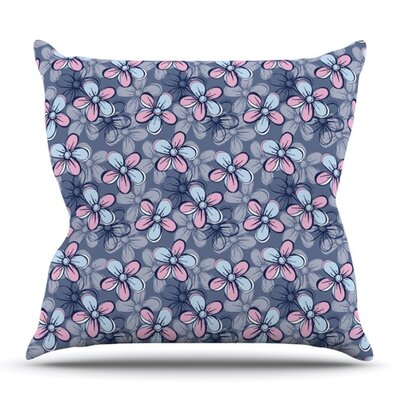 Flower Clusters by Emma Frances Outdoor Throw Pillow