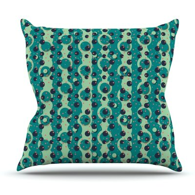 Bubbles Made of Paper by Akwaflorell Outdoor Throw Pillow
