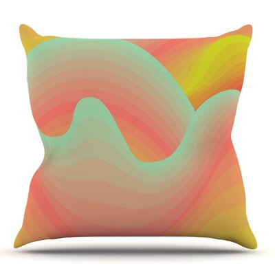 Way of the Waves by Akwaflorell Outdoor Throw Pillow