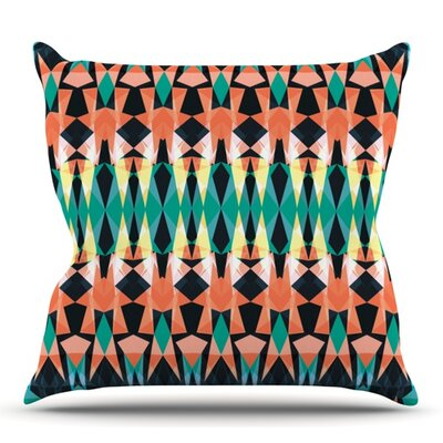 Triangle Visions by Akwaflorell Outdoor Throw Pillow