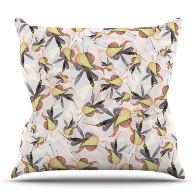Fuchsia on the Wind by Akwaflorell Outdoor Throw Pillow