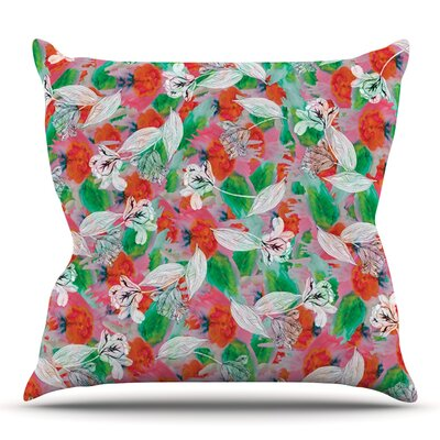 Flying Tulips by Akwaflorell Outdoor Throw Pillow