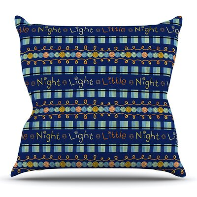 Little Night Light by Jane Smith Outdoor Throw Pillow