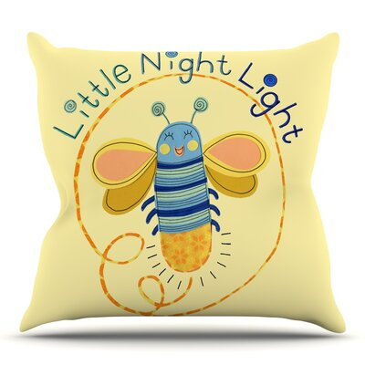 Little Night Bug by Jane Smith Outdoor Throw Pillow