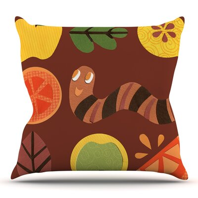 Autumn Repeat by Jane Smith Outdoor Throw Pillow