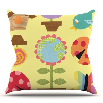Spring Repeat by Jane Smith Outdoor Throw Pillow