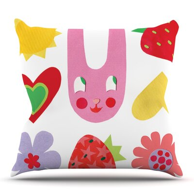 Summer Repeat by Jane Smith Outdoor Throw Pillow