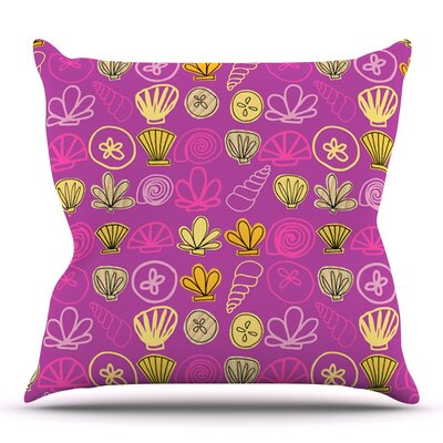 Under the Sea Mermaid by Jane Smith Outdoor Throw Pillow