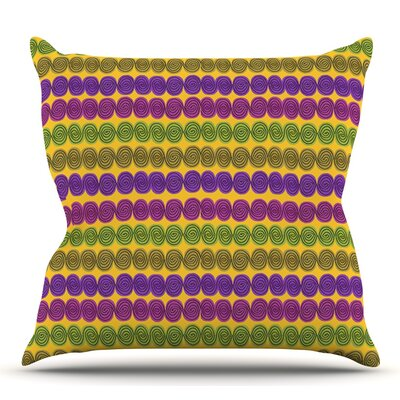 Under the Sea Shells by Jane Smith Outdoor Throw Pillow