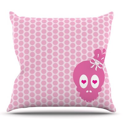 Skull by Nick Atkinson Outdoor Throw Pillow