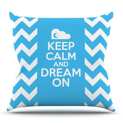 Keep Calm by Nick Atkinson Outdoor Throw Pillow