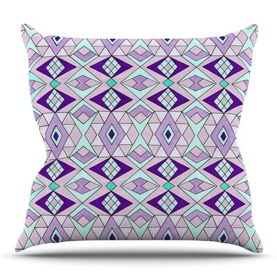 Geometric Flow by Pom Graphic Design Outdoor Throw Pillow