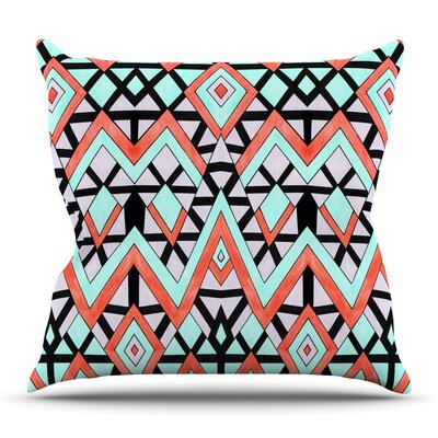 Geometric Mountains by Pom Graphic Design Outdoor Throw Pillow