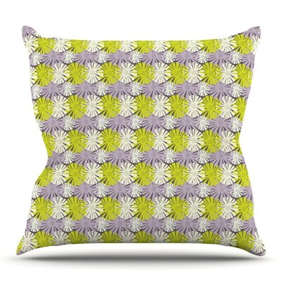 Zinnia by Julie Hamilton Outdoor Throw Pillow