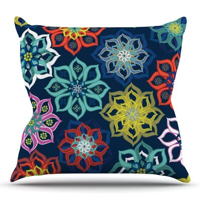 Multi Flower by Jolene Heckman Outdoor Throw Pillow
