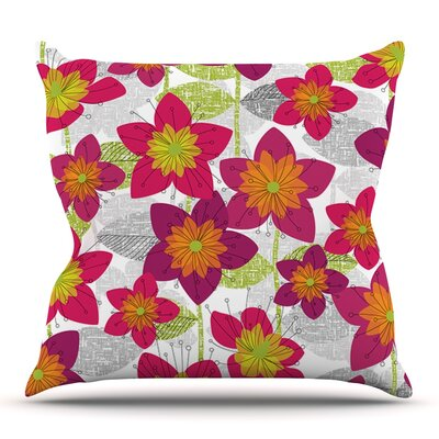 Star Flower by Jacqueline Milton Outdoor Throw Pillow