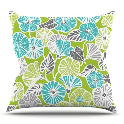 Trumpet Vine by Jacqueline Milton Outdoor Throw Pillow