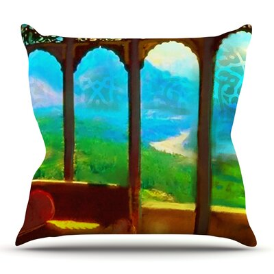 Mountain Retreat by S. Seema Z Outdoor Throw Pillow