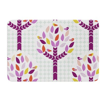 Orchid Spring Tree by Pellerina Design Bath Mat Size: 24 W x 36 L