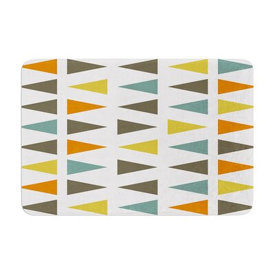 Stacked Geo by Pellerina Design Bath Mat Size: 17W x 24L