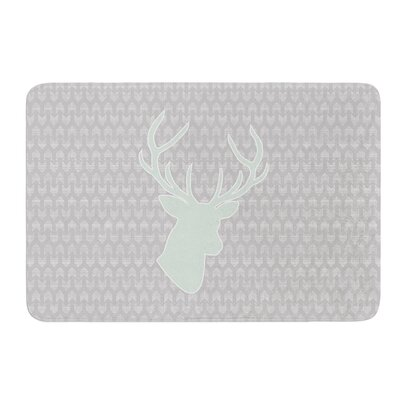 Winter Deer by Pellerina Design Bath Mat Size: 17W x 24L