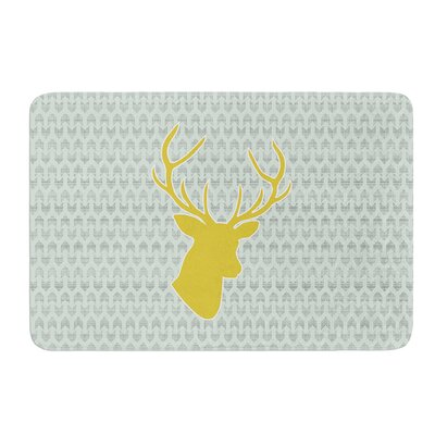 Golden Deer by Pellerina Design Bath Mat Size: 24 W x 36 L