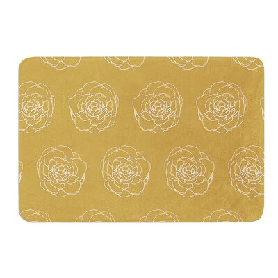 Golden Peonies by Pellerina Design Bath Mat Size: 24 W x 36 L